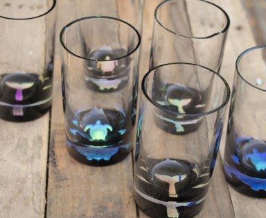 Glass Blown Cups Made on Maui