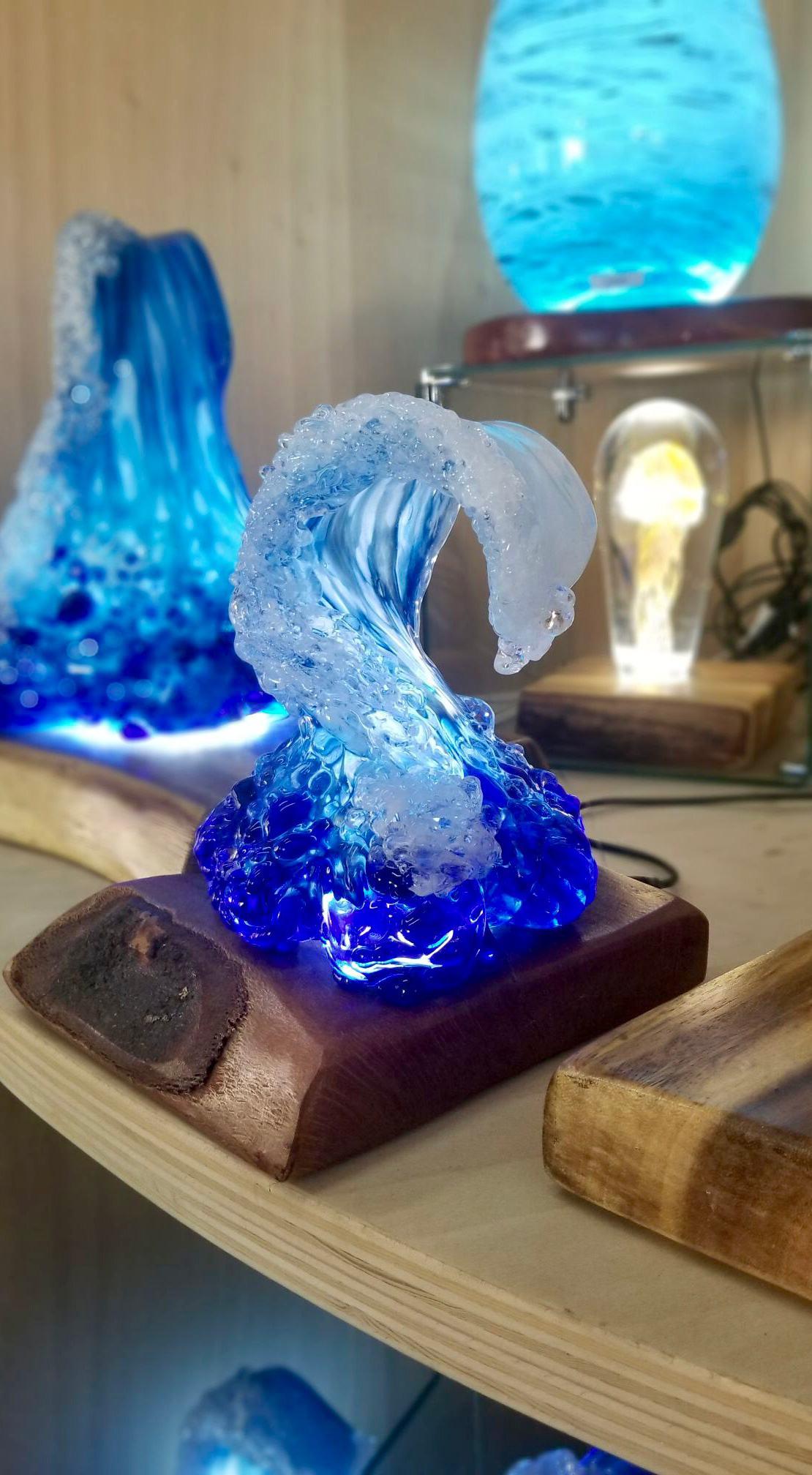 Waves Glass Art
