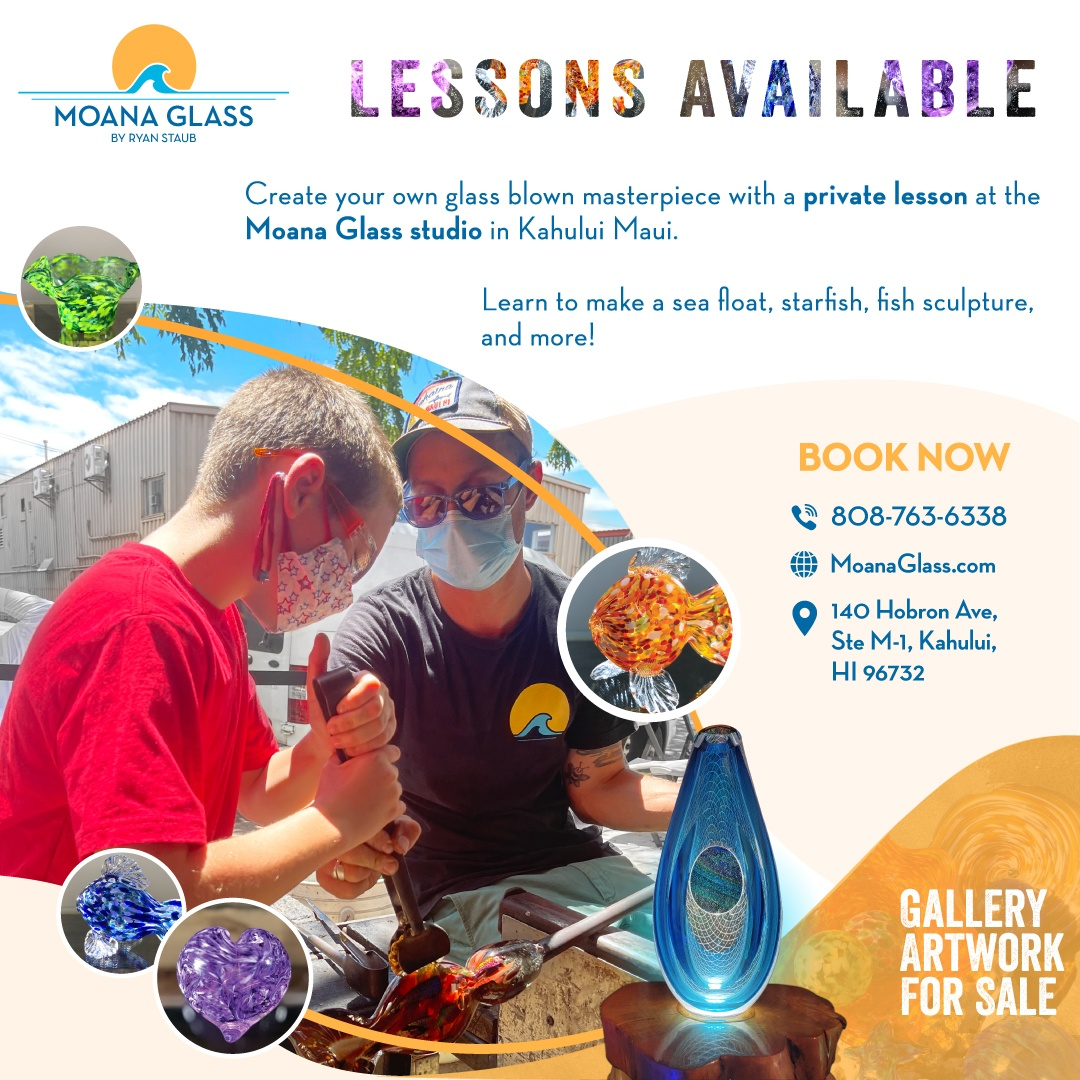 Moana Glass Art Lessons Are Available
