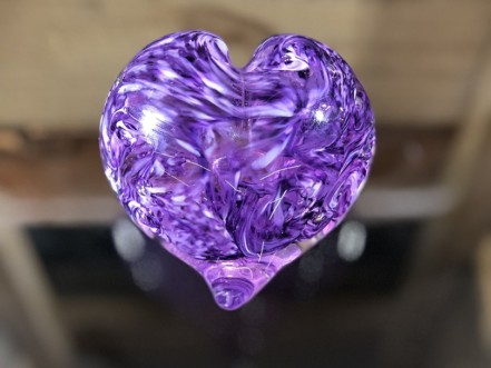 hand glass blown heart