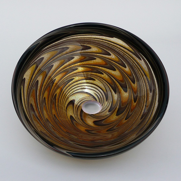 Gold Earthen Vortex Sink
