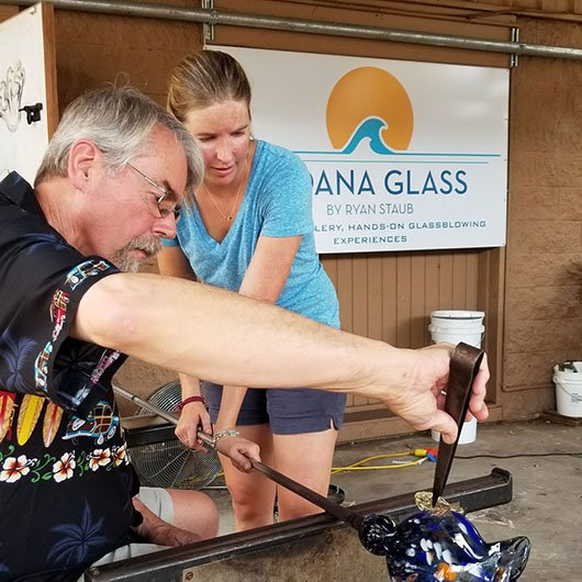 maui glass blowing glass