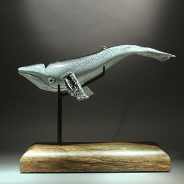 <p>Humpback Whale in White and Black<br> 20 in long, 8 in tall.</p>