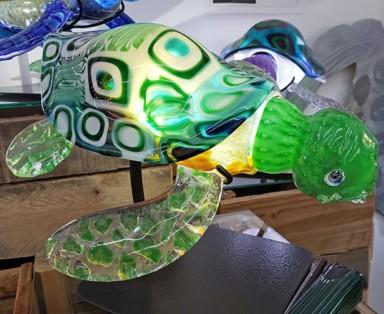 Turtle is internally illuminated with LEDs.