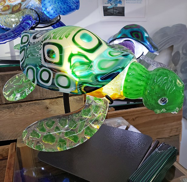 Turtle is internally illuminated with LEDs.