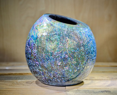Dragon Egg Cut Top Dichroic Vessel Feature Image