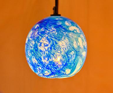 Ocean Blue Pendant appx. 7 in diameter feature image
