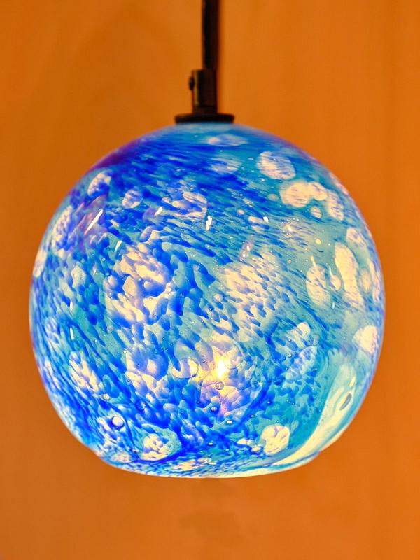 Ocean Blue Pendant appx. 7 in diameter