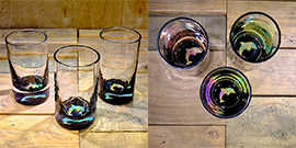 Dolphin Water Glass in Multi-color – $65 Each