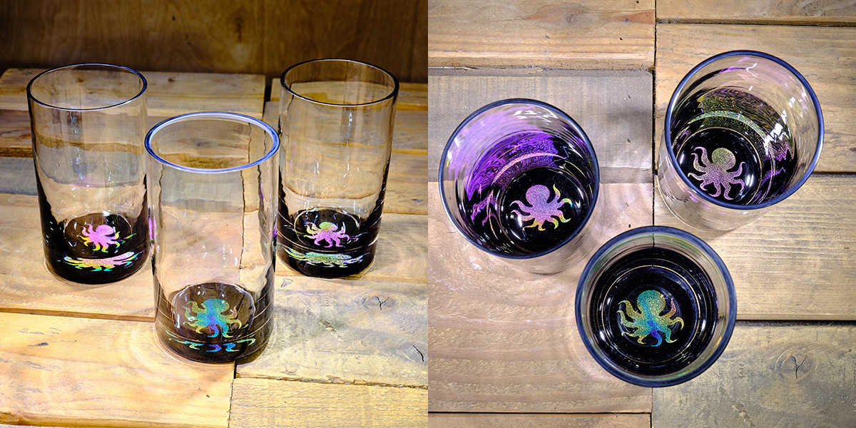 Octopus Water Glass in Multi-color – $75 Each