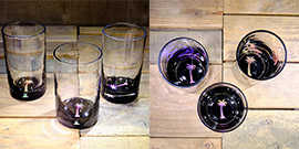 Palm Tree Water Glass in Multi-color – $65 Each