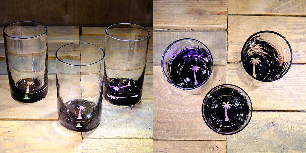 Palm Tree Water Glass in Multi-color – $75 Each