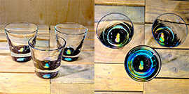 Pineapple Rocks Glass in Multi-color – $65 Each