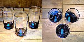 Pineapple Water Glass in Ocean Blue/Seafoam Green – $65 Each
