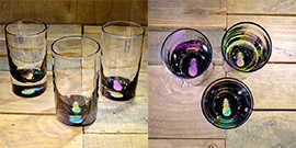 Pineapple Water Glass in Multi-color – $65 Each