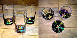 Starfish Water Glass in Multi-color – $65 Each