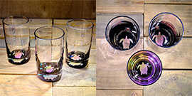 Turtle Water Glass in Multi-color- $65 Each