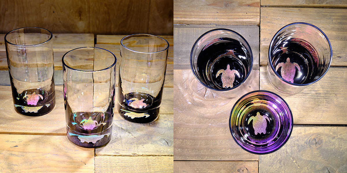Turtle Water Glass in Multi-color- $75 Each
