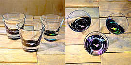Whale Rocks Glass in Multi-color – $65 Each