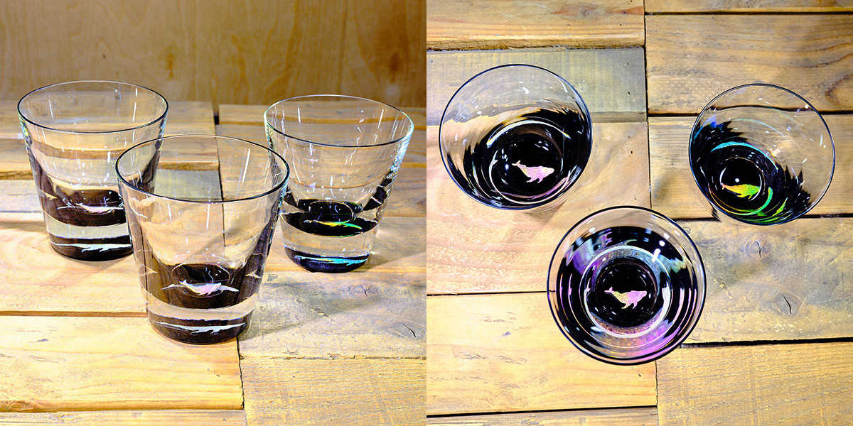 Whale Rocks Glass in Multi-color – $75 Each