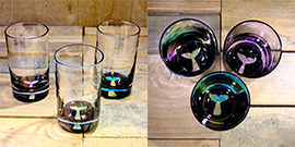Whale Tail Water Glass in Multi-color – $65 Each