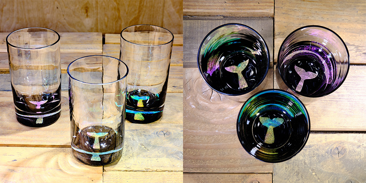 Whale Tail Water Glass in Multi-color  – $75 Each