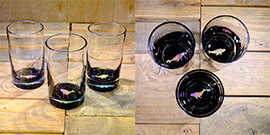Whale Water Glass in Multi-color – $65 Each