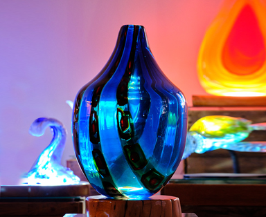 Incalmo Murrine Vessel With LED Light Base - Feature Image