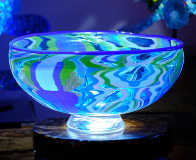 Pattern Bar Bowl with LED Light Base Feature Image