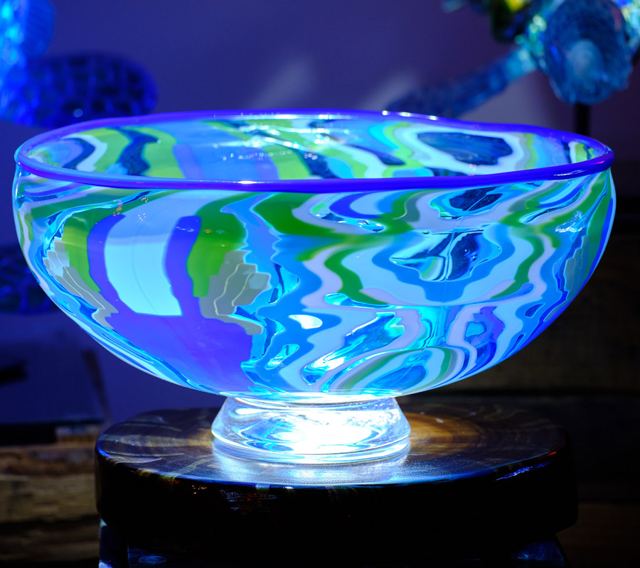 Pattern Bar Bowl with LED Light Base