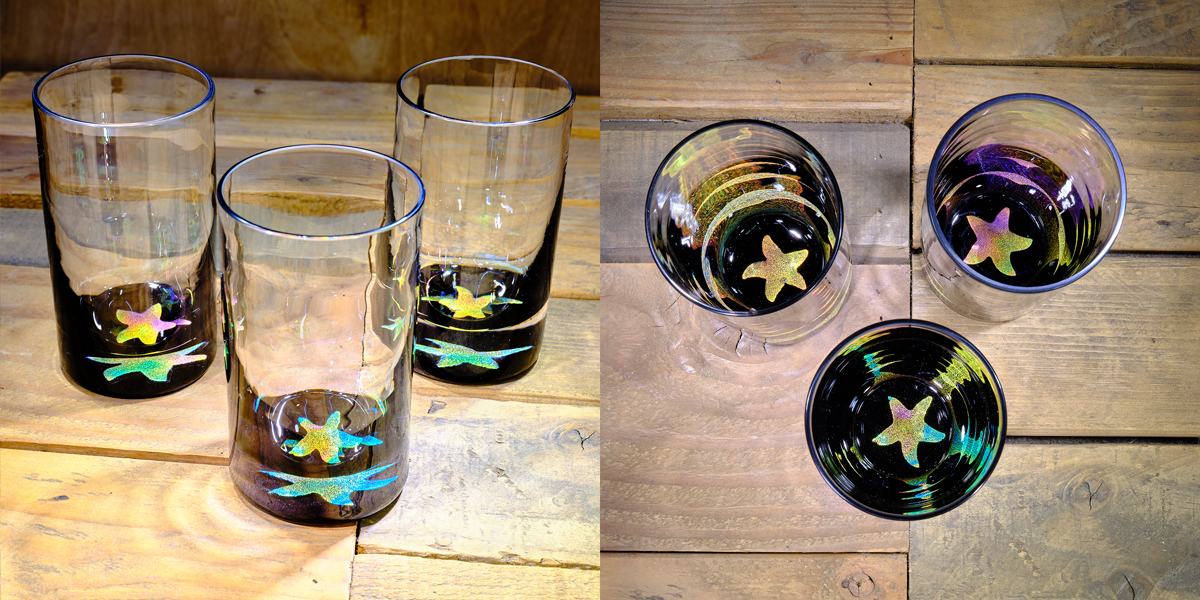 Starfish Water Glass in Multi-color – $75 Each