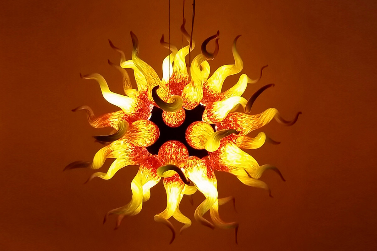 Sun Chandelier <br> Appx. 5 in diameter <br> Retail Price: $95,000