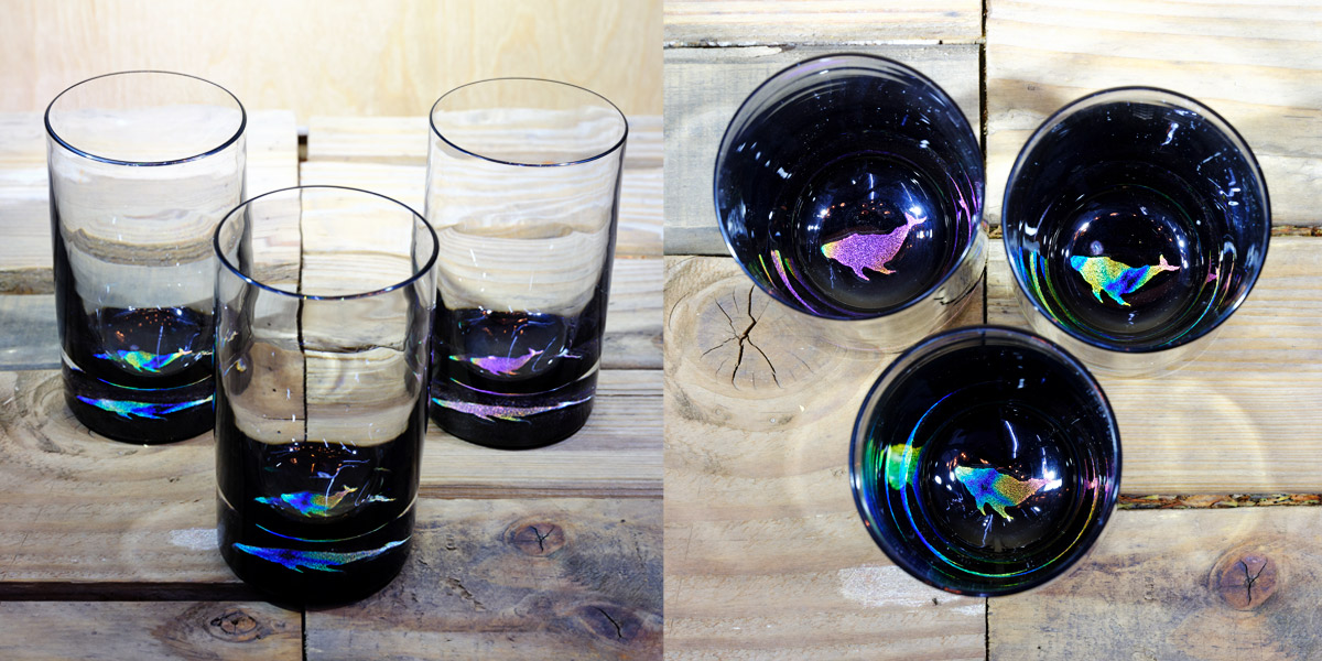 Whale Water Glass in Multi-color – $75 Each
