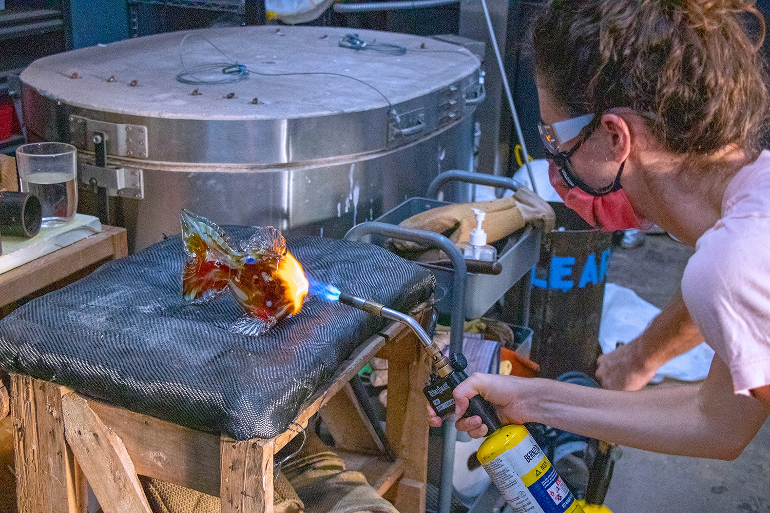 Glass Blowing A Fish in Lahaina